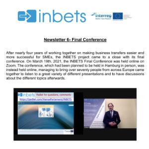 INBETS Newsletter 6: Final Conference
